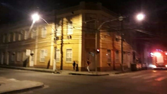 30d73e022c3c Incêndio no antigo prédio da Secretaria de Educação de Pelotas ...